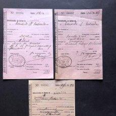 Sellos: ALCAÑIZ AÑO 1917 - 1919 / RESGUARDOS GIRO POSTAL / TERUEL. Lote 293798603