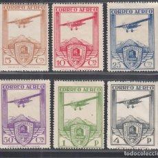 Sellos: ESPAÑA. 1930 EDIFIL Nº 483 / 488 /*/ XI CONGRESO INTERNACIONAL DE FERROCARRILES,. Lote 293888198
