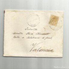 Sellos: CIRCULADA 1918 DE ALCUDIA DEE CRESPINS A VALENCIA. Lote 293919088