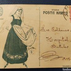 Sellos: ESPERANTO TARJETA POSTAL KONGRESO ESPERANTISTA BARCELONA 1909 ESCRITA EN ESPERANTO. Lote 293938058
