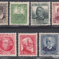 Selos: ESPAÑA.1933-1935 EDIFIL Nº 681 / 688 /*/, PERSONAJES.. Lote 294094603