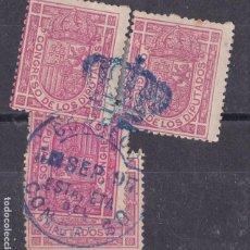 Francobolli: MM28-CLÁSICOS CORREO OFICIAL EDIFIL 230 MATASELLOS CONGRESO X 4 SELLOS. Lote 294958598