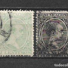 Sellos: ESPAÑA 1889 EDIFIL 213 + 214 USADO - 5/26. Lote 295896868
