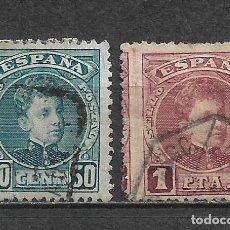 Sellos: ESPAÑA 1901 EDIFIL 252 + 253 USADO - 5/27. Lote 295924028