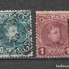 Sellos: ESPAÑA 1901 EDIFIL 252 + 253 USADO - 5/27. Lote 295924098