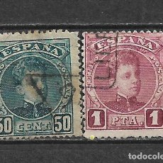 Sellos: ESPAÑA 1901 EDIFIL 252 + 253 USADO - 5/27. Lote 295924168