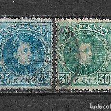 Sellos: ESPAÑA 1901 EDIFIL 248 + 249 USADO - 5/27. Lote 295924248