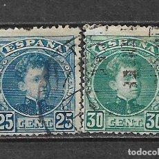 Sellos: ESPAÑA 1901 EDIFIL 248 + 249 USADO - 5/27. Lote 295924268