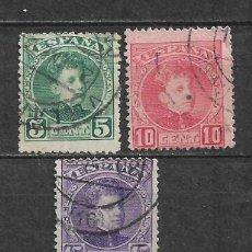 Sellos: ESPAÑA 1901 EDIFIL 242 + 243 + 246 USADO - 5/27. Lote 295924383