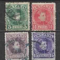 Sellos: ESPAÑA 1901 EDIFIL 242 + 243 + 245 + 246 USADO - 5/27. Lote 295924423