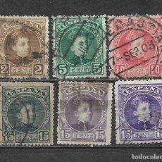 Sellos: ESPAÑA 1901 EDIFIL 241/246 USADO - 5/27. Lote 295924558