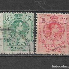 Francobolli: ESPAÑA 1909 EDIFIL 268 + 269 USADO - 5/28. Lote 295933828