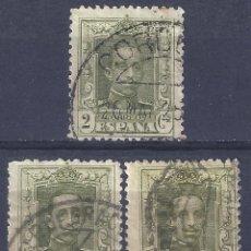 Sellos: EDIFIL 310 ALFONSO XIII. TIPO VAQUER 1922-1930. LOTE DE 3 SELLOS. DISTINTOS MATASELLOS.. Lote 296596923
