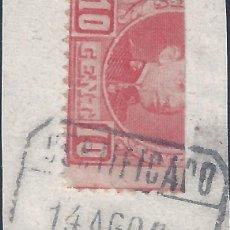 Sellos: EDIFIL 243 ALFONSO XIII. TIPO CADETE. 1901-1905. SELLO BISECTADO.. Lote 297382263