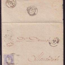 Sellos: ESPAÑA.(CAT. 107).1870.CARTA DE LA CORUÑA A MONDOÑEDO.50 MLS.TRÁNSITO POR *VILLALVA*.MAGNÍFICA.RARA.. Lote 25944911