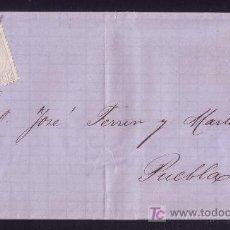Sellos: ESPAÑA.(CAT.122).1872.CARTA DE PUENTE CESURES(PONTEVEDRA) A PUEBLA.12 C.MAT.PLUMA.RARÍSIMA.MAGNÍFICA. Lote 25855314