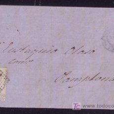 Sellos: ESPAÑA. (CAT. 122). 1872. CARTA DE TAFALLA A PAMPLONA. 12 CTS. AMADEO. FECHADOR AZUL. BONITA.. Lote 23851752