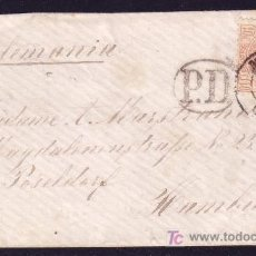 Sellos: ESPAÑA.(CAT.125).1873.SOBRE DE MADRID A HAMBURGO (ALEMANIA).40 C.AMADEO. MUY RARO DESTINO.MAGNÍFICA.. Lote 26858947