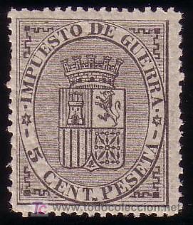ESPAÑA. (CAT. 141/GRAUS 191-I). ** 5 CTS. FALSO POSTAL TIPO I. MAGNÍFICO. (Sellos - España - Amadeo I y Primera República (1.870 a 1.874) - Nuevos)