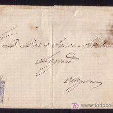 Sellos: ESPAÑA.(CAT.107).1871.CUBIERTA DE PONTEVEDRA A ORTIGOSA.50 MLS.MAT.FECHADOR * PONTEVEDRA/(39) *.RARA. Lote 25737002