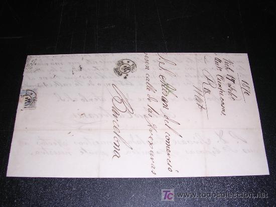 CARTA BARCELONA A VICH 1870 (Sellos - España - Amadeo I y Primera República (1.870 a 1.874) - Cartas)