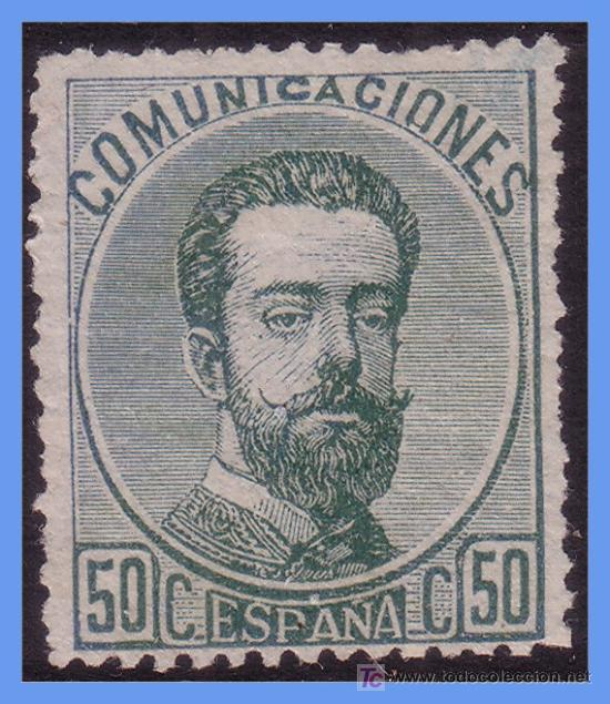 1872 AMADEO I, Nº 126 (*) (Sellos - España - Amadeo I y Primera República (1.870 a 1.874) - Usados)