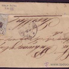 Sellos: ESPAÑA.(CAT.107/GRAUS 139-VII).1872.CARTA DE FERROL A SEVILLA.50 MLS.FALSO POSTAL TIPO VII.MUY RARA.. Lote 27044362