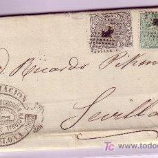 Sellos: CARTA DE BARCELONA A SEVILLA, FRANQUEADA CON EL SELLOS Nº 133 Y 141.. Lote 22024859