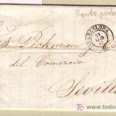 Sellos: CARTA DE BARCELONA A SEVILLA, FRANQUEADA CON EL SELLO Nº 107. Lote 22048737