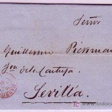 Sellos: CARTA DE MADRID A SEVILLA, FRANQUEADA CON EL SELLO Nº 107. Lote 12938184
