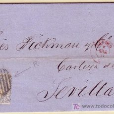 Sellos - Carta de Madrid a Sevilla, franqueada con el sello nº 107 - 12938226