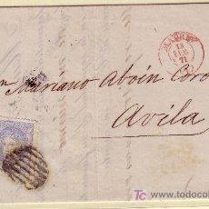 Sellos: CARTA DE MADRID A AVILA, FRANQUEADA CON EL SELLO Nº 107. Lote 21929786