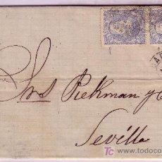 Briefmarken - Carta de Cadiz a Sevilla, franqueada con pareja del sello nº 107 - 22100425