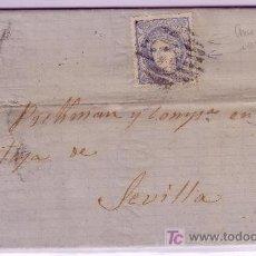 Sellos - Carta de Granada a Sevilla, franqueada con sello nº 107 con gran defecto de impresión. - 22309306