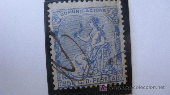 1873 ALEGORIA DE LA I REPUBLICA EDIFIL 137 (Sellos - España - Amadeo I y Primera República (1.870 a 1.874) - Usados)