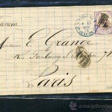 Sellos: EDIFIL 148 MATASELLOS FRANCÉS. ENVUELTA COMPLETA. ST JEAN DE LUZ. Lote 17466274