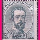 Sellos: 1872 CORONA REAL, CIFRAS Y AMADEO I, EDIFIL Nº 126 (*). Lote 20984171