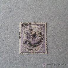 Sellos: ESPAÑA,1874,ALEGORIA DE LA JUSTICIA,EDIFIL 144,MATASELLO FECHADOR DE 1857 NEGRO. Lote 21499686