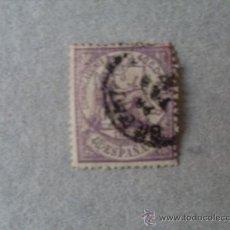 Sellos: ESPAÑA,1874,ALEGORIA DE LA JUSTICIA,EDIFIL 148,MATASELLO FECHADOR DE 1857 NEGRO. Lote 21500146