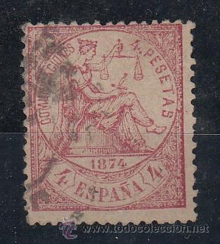 ESPAÑA 151 USADA, ALEGORIA DE LA JUSTICIA, (Sellos - España - Amadeo I y Primera República (1.870 a 1.874) - Usados)