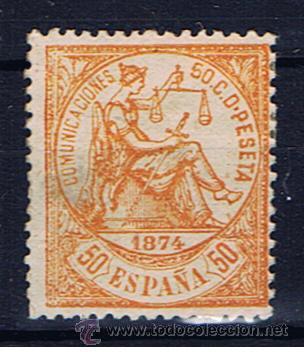 I REPUBLICA 1874 EDIFIL 149 NUEVO* VALOR 2010 CATALOGO 175 EUROS NARANJA (Sellos - España - Amadeo I y Primera República (1.870 a 1.874) - Nuevos)