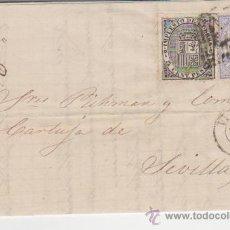 Sellos: CARTA DE VITORIA A SEVILLA. DE 12 DE JULIO DE 1874. FRANQUEADO CON SELLOS 141 Y 145, MATASELLO DE -. Lote 28163700
