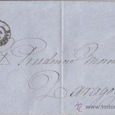 Sellos: CARTA: DE BARCELONA A ZARAGOZA. SELLO ALEGORÍA DE LA REPÚBLICA - 1873 - HISTORIA POSTAL. Lote 31019957