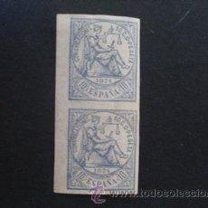 Sellos: ESPAÑA,1874,EDIFIL 145S,PAREJA DE SELLOS,ALEGORIA DE LA JUSTICIA,NUEVOS CON GOMA Y SEÑAL FIJASELLOS. Lote 32600765