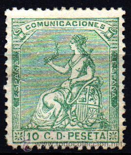 *** BONITOS 10 CTS DE LA I REPÚBLICA 1873 EDIFIL 133. NUEVO *** (Sellos - España - Amadeo I y Primera República (1.870 a 1.874) - Nuevos)
