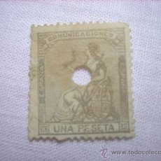 Sellos: EDIFIL 138T ALEGORIA 1 PESETA 1873. Lote 36507467
