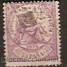 Sellos: SELLO ESPAÑA I REPUBLICA EDIFIL 148 AÑO 1874 ALEGORIA DE LA JUSTICIA USADO . Lote 37004147