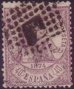 ESPAÑA. (CAT. 148). 40 CTS. VIOLETA. BONITO. (Sellos - España - Amadeo I y Primera República (1.870 a 1.874) - Usados)