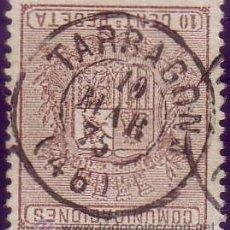 Sellos: ESPAÑA. (CAT. 153). 10 CTS. MAT. FECHADOR * TARRAGONA/(46) *. PIEZA DE LUJO.. Lote 37294903