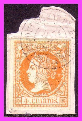 1860 ISABEL II, EDIFIL Nº 52, MATASELLO FECHADOR QUINTANAR DE LA ORDEN (TOLEDO) (O) (Sellos - España - Amadeo I y Primera República (1.870 a 1.874) - Cartas)